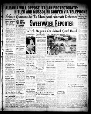 Primary view of object titled 'Sweetwater Reporter (Sweetwater, Tex.), Vol. 41, No. 295, Ed. 1 Wednesday, April 5, 1939'.