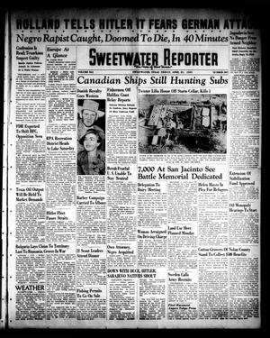 Primary view of object titled 'Sweetwater Reporter (Sweetwater, Tex.), Vol. 41, No. 307, Ed. 1 Friday, April 21, 1939'.
