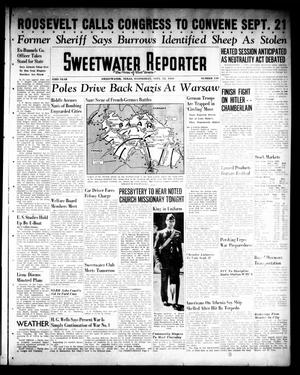Primary view of object titled 'Sweetwater Reporter (Sweetwater, Tex.), Vol. 43, No. 110, Ed. 1 Wednesday, September 13, 1939'.