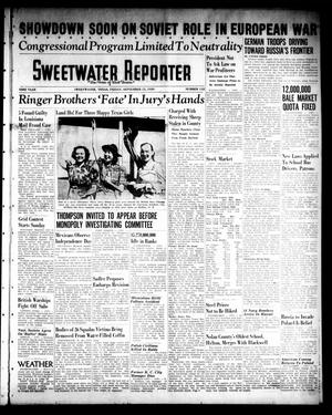 Primary view of object titled 'Sweetwater Reporter (Sweetwater, Tex.), Vol. 43, No. 112, Ed. 1 Friday, September 15, 1939'.