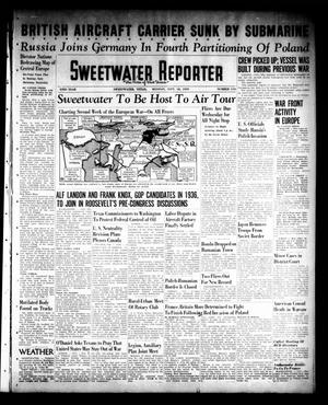 Primary view of object titled 'Sweetwater Reporter (Sweetwater, Tex.), Vol. 43, No. 114, Ed. 1 Monday, September 18, 1939'.