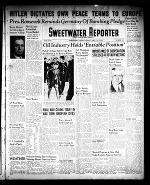 Primary view of object titled 'Sweetwater Reporter (Sweetwater, Tex.), Vol. 43, No. 115, Ed. 1 Tuesday, September 19, 1939'.