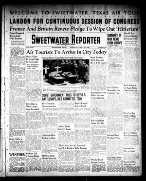 Primary view of object titled 'Sweetwater Reporter (Sweetwater, Tex.), Vol. 43, No. 116, Ed. 1 Wednesday, September 20, 1939'.