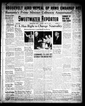 Primary view of object titled 'Sweetwater Reporter (Sweetwater, Tex.), Vol. 43, No. 117, Ed. 1 Thursday, September 21, 1939'.