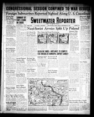 Primary view of object titled 'Sweetwater Reporter (Sweetwater, Tex.), Vol. 43, No. 118, Ed. 1 Friday, September 22, 1939'.