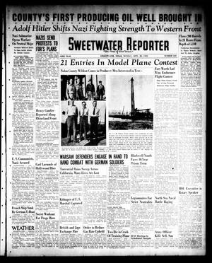 Primary view of object titled 'Sweetwater Reporter (Sweetwater, Tex.), Vol. 43, No. 120, Ed. 1 Monday, September 25, 1939'.