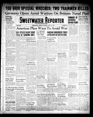 Primary view of object titled 'Sweetwater Reporter (Sweetwater, Tex.), Vol. 43, No. 121, Ed. 1 Wednesday, September 27, 1939'.