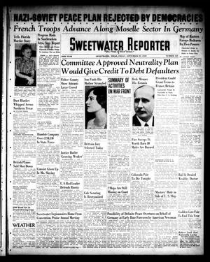 Primary view of object titled 'Sweetwater Reporter (Sweetwater, Tex.), Vol. 43, No. 123, Ed. 1 Friday, September 29, 1939'.