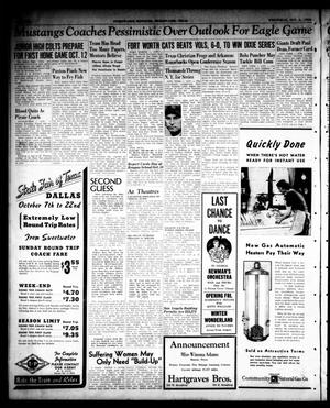 Sweetwater Reporter (Sweetwater, Tex.), Vol. 43, No. 127, Ed. 1 Wednesday, October 4, 1939