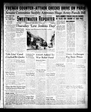 Primary view of object titled 'Sweetwater Reporter (Sweetwater, Tex.), Vol. 43, No. 319, Ed. 1 Monday, May 20, 1940'.