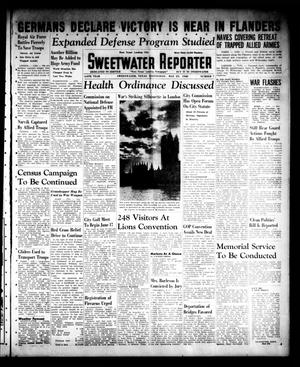 Primary view of object titled 'Sweetwater Reporter (Sweetwater, Tex.), Vol. 44, No. 7, Ed. 1 Wednesday, May 29, 1940'.