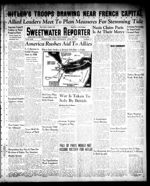 Primary view of object titled 'Sweetwater Reporter (Sweetwater, Tex.), Vol. 44, No. 17, Ed. 1 Wednesday, June 12, 1940'.