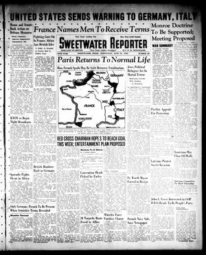 Primary view of object titled 'Sweetwater Reporter (Sweetwater, Tex.), Vol. 44, No. 22, Ed. 1 Wednesday, June 19, 1940'.