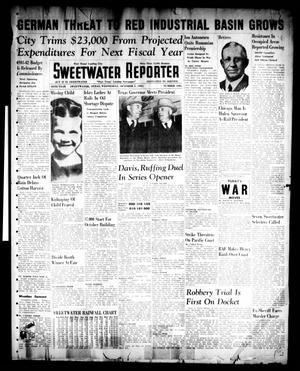 Primary view of object titled 'Sweetwater Reporter (Sweetwater, Tex.), Vol. 45, No. 106, Ed. 1 Wednesday, October 1, 1941'.