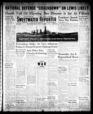 Primary view of object titled 'Sweetwater Reporter (Sweetwater, Tex.), Vol. 45, No. 139, Ed. 1 Monday, October 27, 1941'.