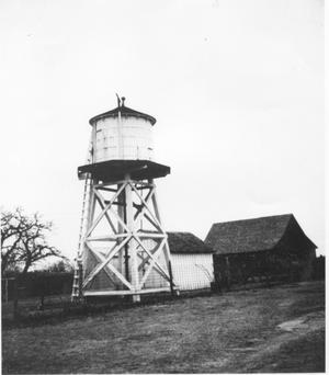 Primary view of object titled 'Water Tower on Lloyd Booth's Farm'.