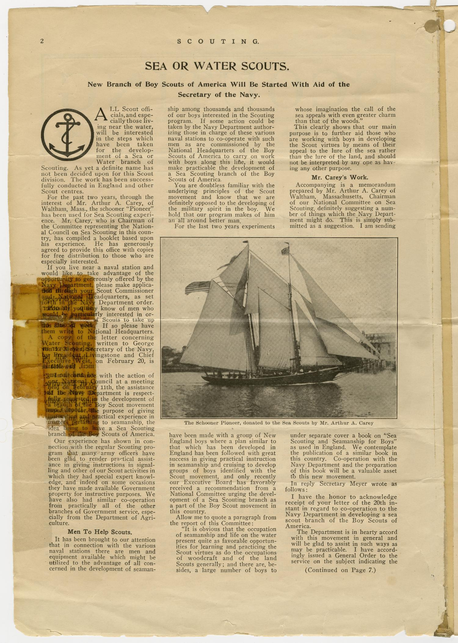 Scouting, Volume 1, Number 1, April 15, 1913                                                                                                      2