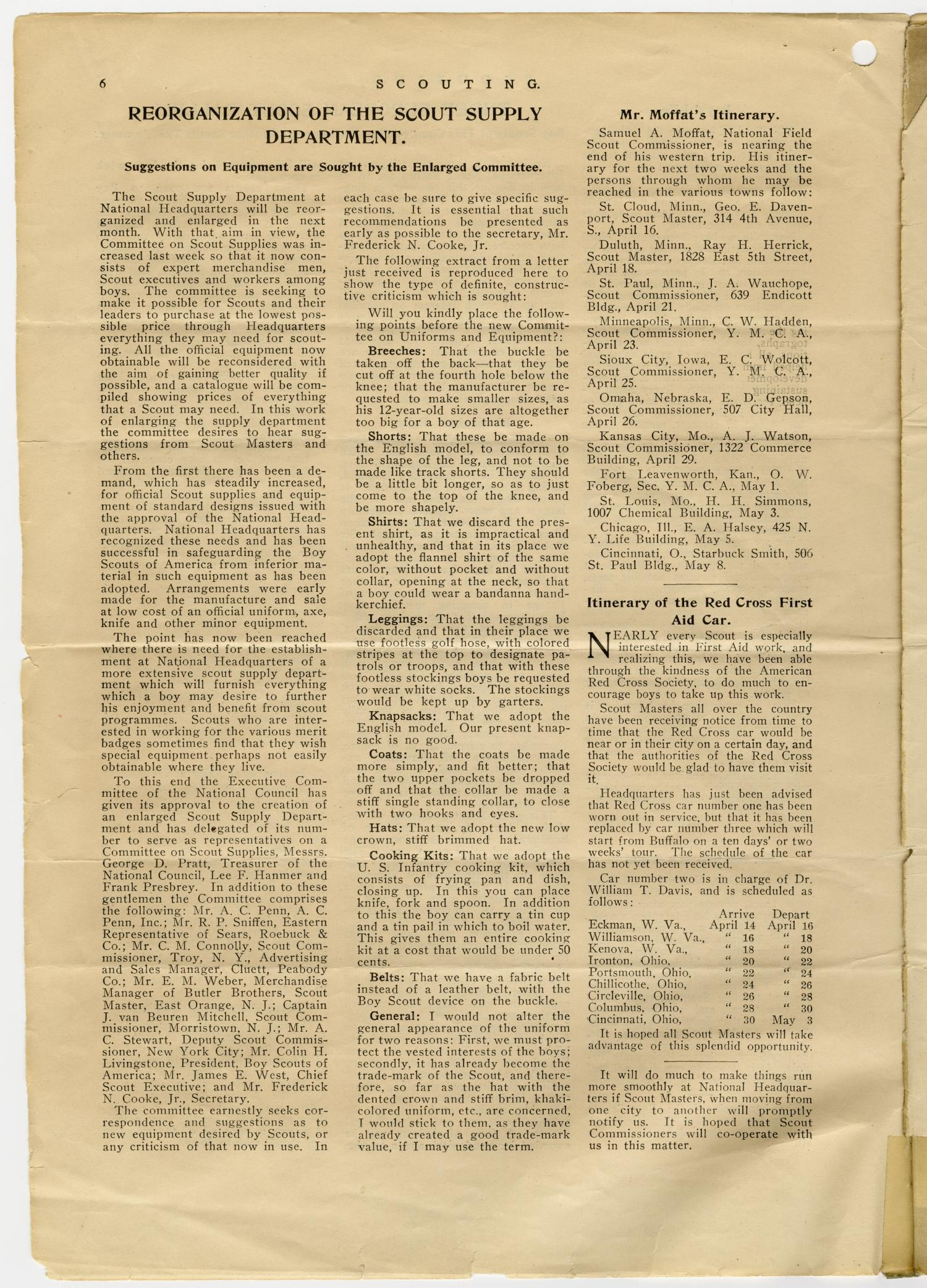 Scouting, Volume 1, Number 1, April 15, 1913                                                                                                      6