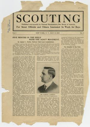 Primary view of object titled 'Scouting, Volume 1, Number 3, May 15, 1913'.