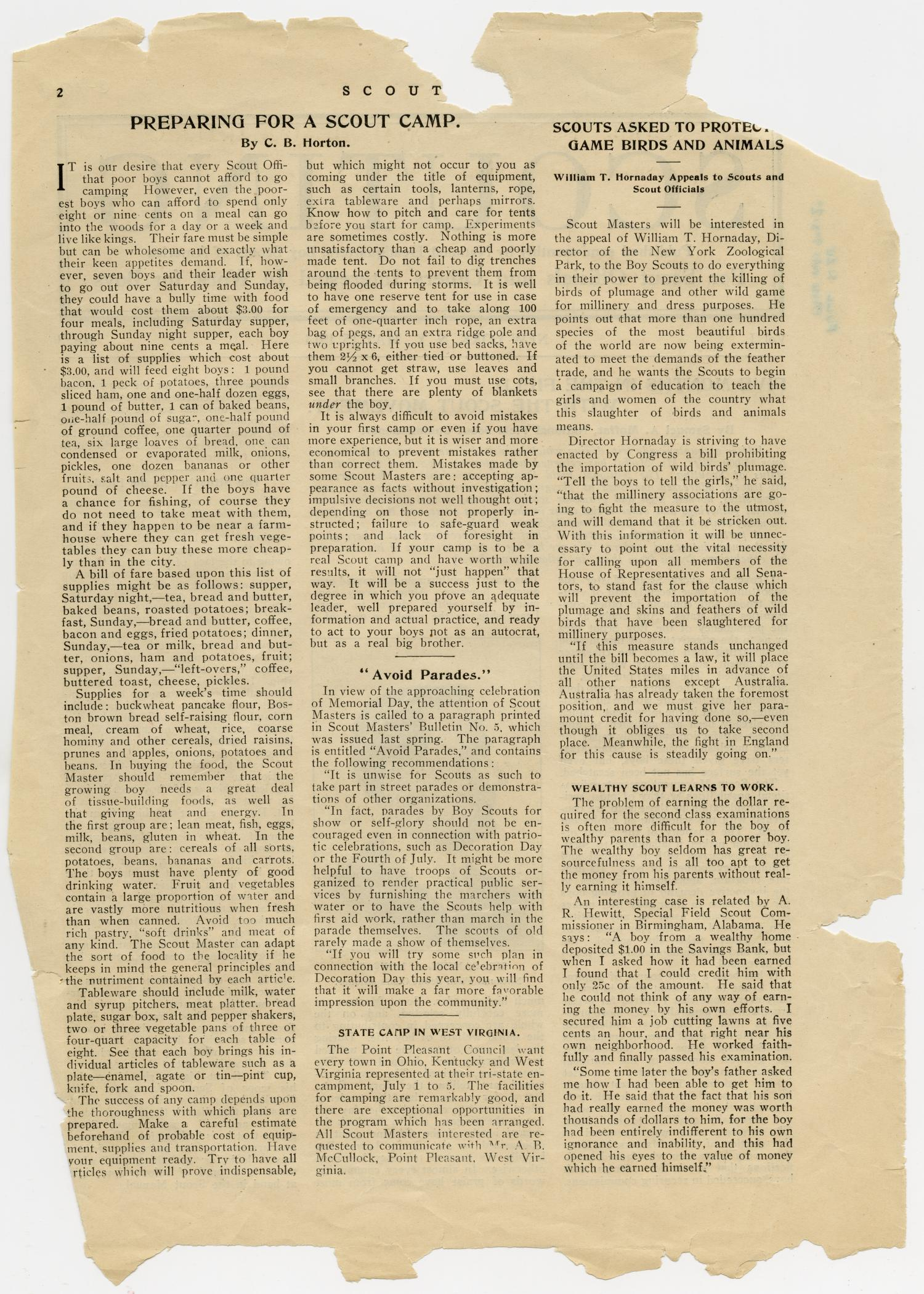 Scouting, Volume 1, Number 3, May 15, 1913                                                                                                      2