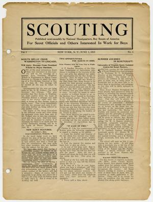 Primary view of object titled 'Scouting, Volume 1, Number 4, June 1, 1913'.