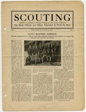 Primary view of object titled 'Scouting, Volume 1, Number 5, June 15, 1913'.
