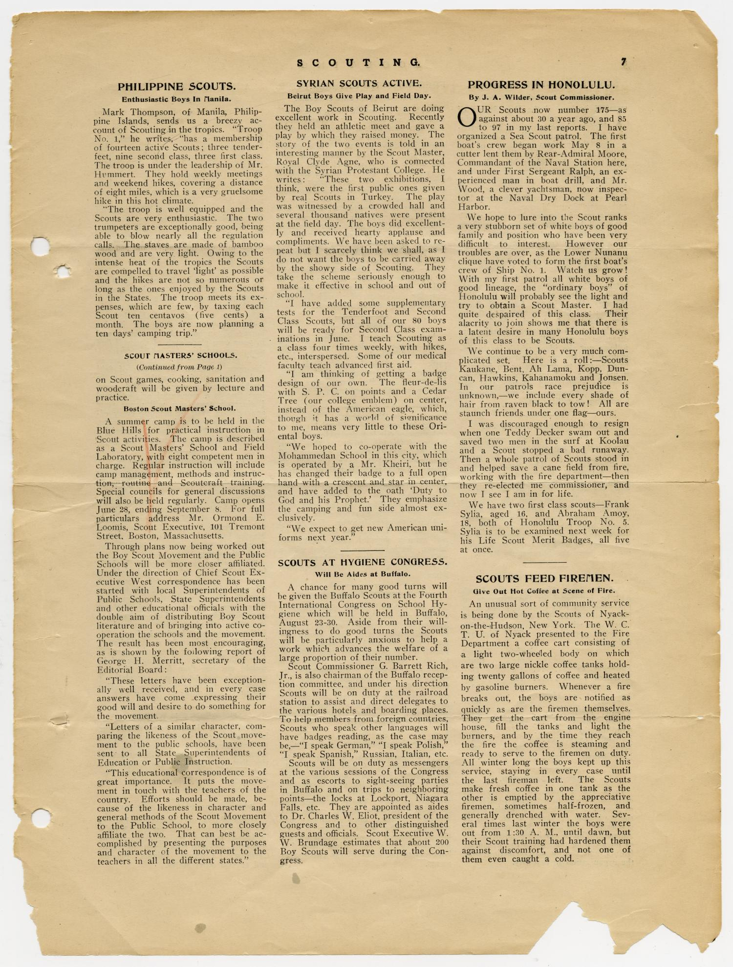 Scouting, Volume 1, Number 5, June 15, 1913                                                                                                      7