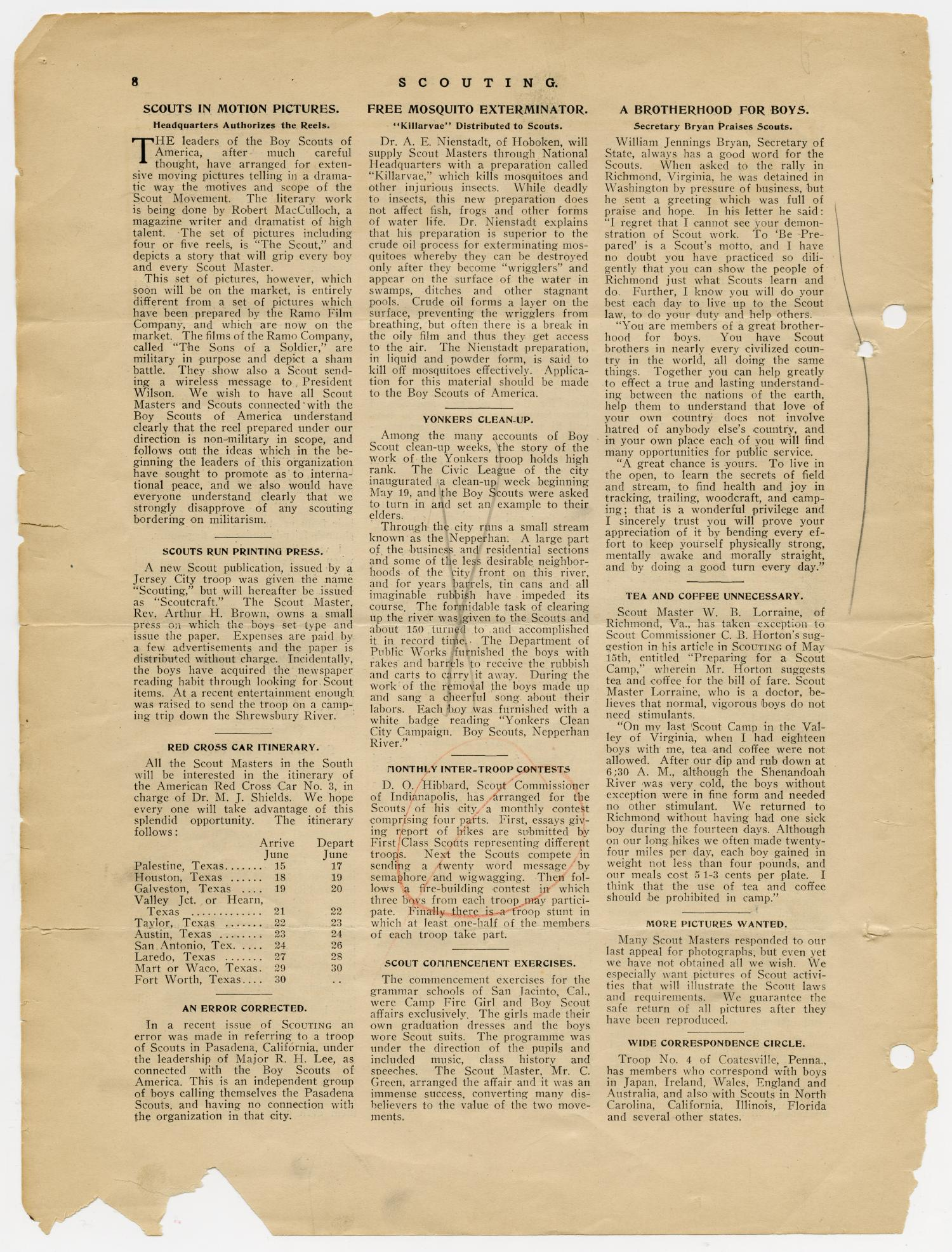 Scouting, Volume 1, Number 5, June 15, 1913                                                                                                      8