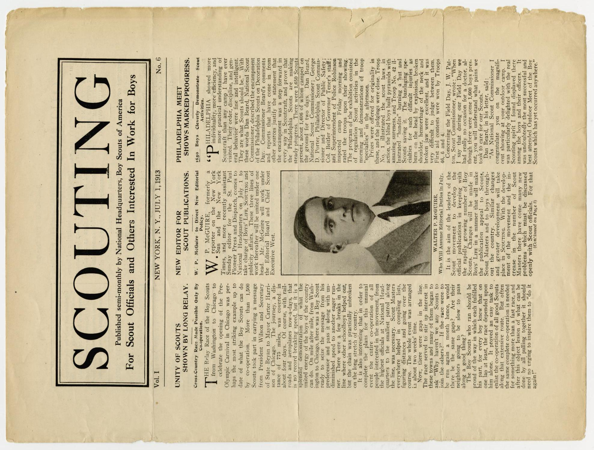 Scouting, Volume 1, Number 6, July 1, 1913                                                                                                      1