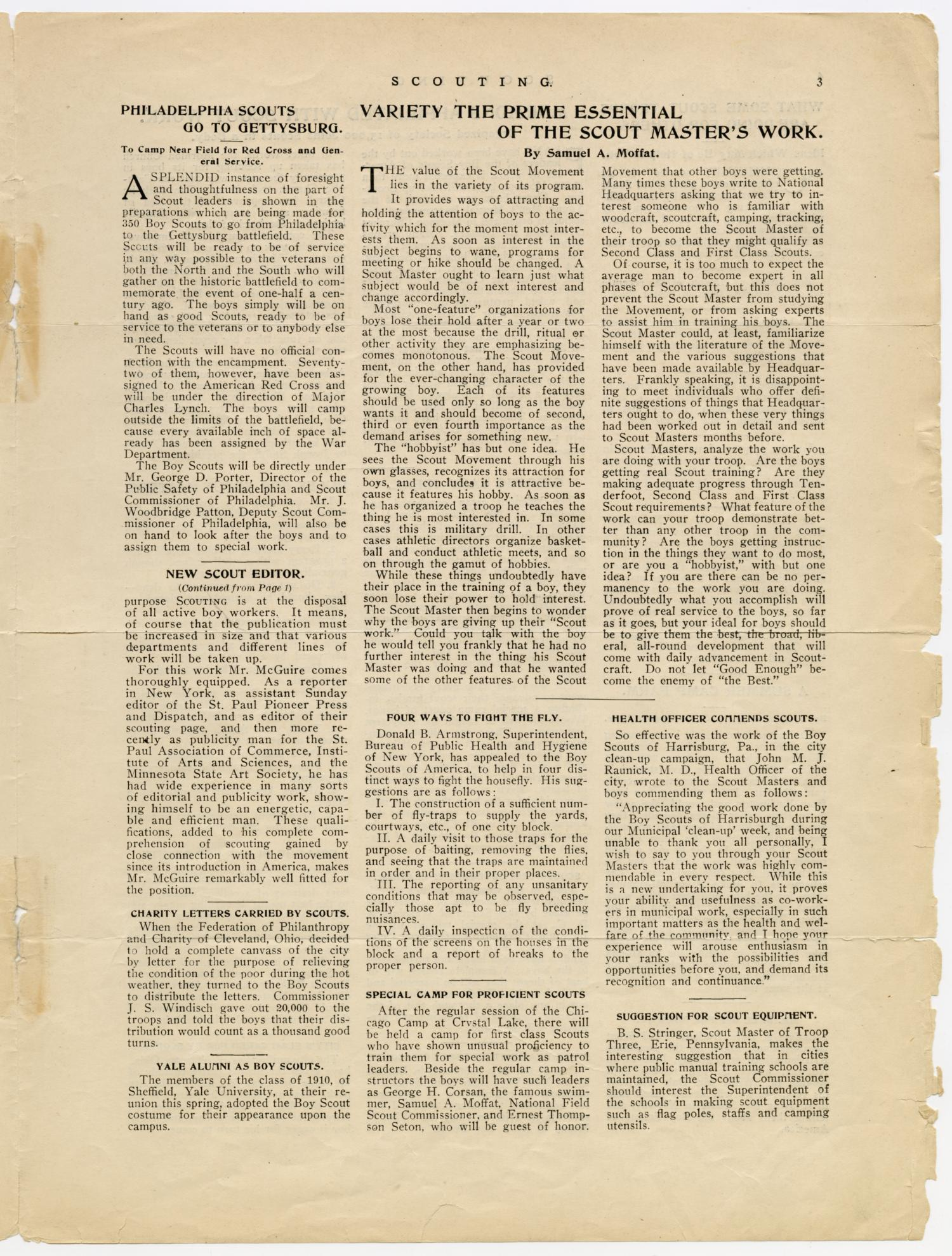 Scouting, Volume 1, Number 6, July 1, 1913                                                                                                      3