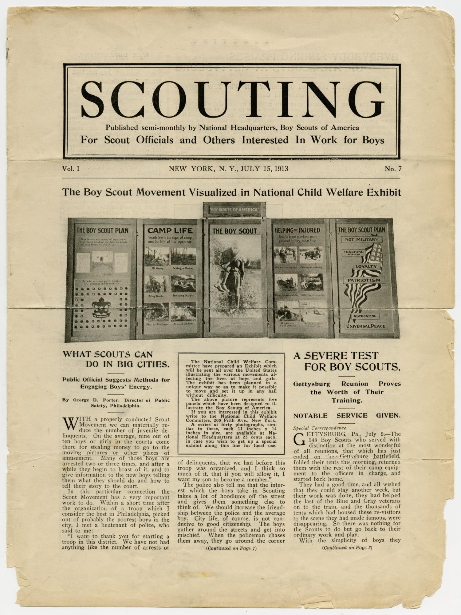 Scouting, Volume 1, Number 7, July 15, 1913                                                                                                      1