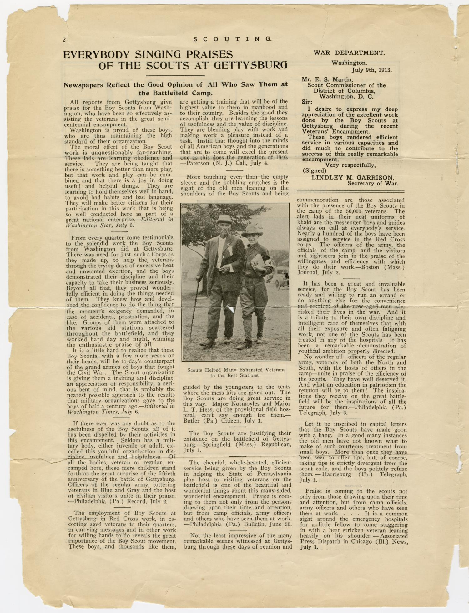 Scouting, Volume 1, Number 7, July 15, 1913                                                                                                      2