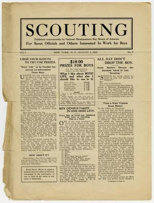 Primary view of object titled 'Scouting, Volume 1, Number 8, August 1, 1913'.
