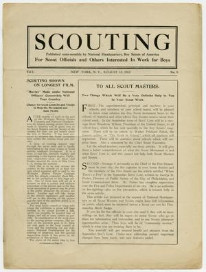 Primary view of object titled 'Scouting, Volume 1, Number 9, August 15, 1913'.