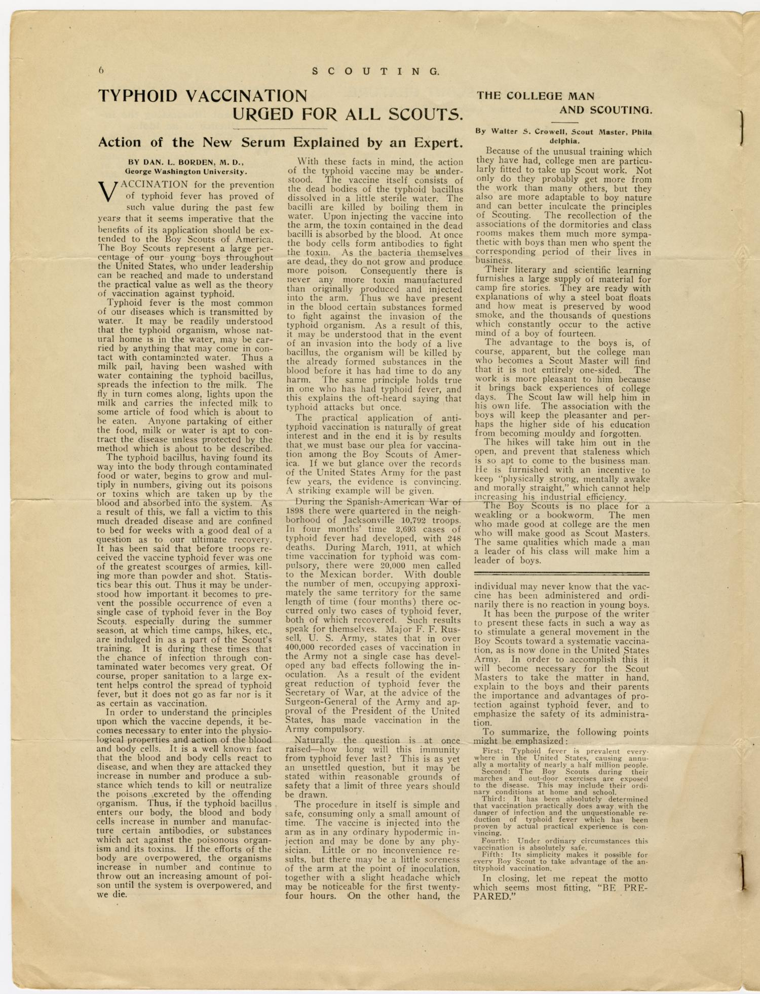 Scouting, Volume 1, Number 9, August 15, 1913                                                                                                      6