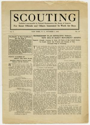 Primary view of object titled 'Scouting, Volume 1, Number 12, October 1, 1913'.