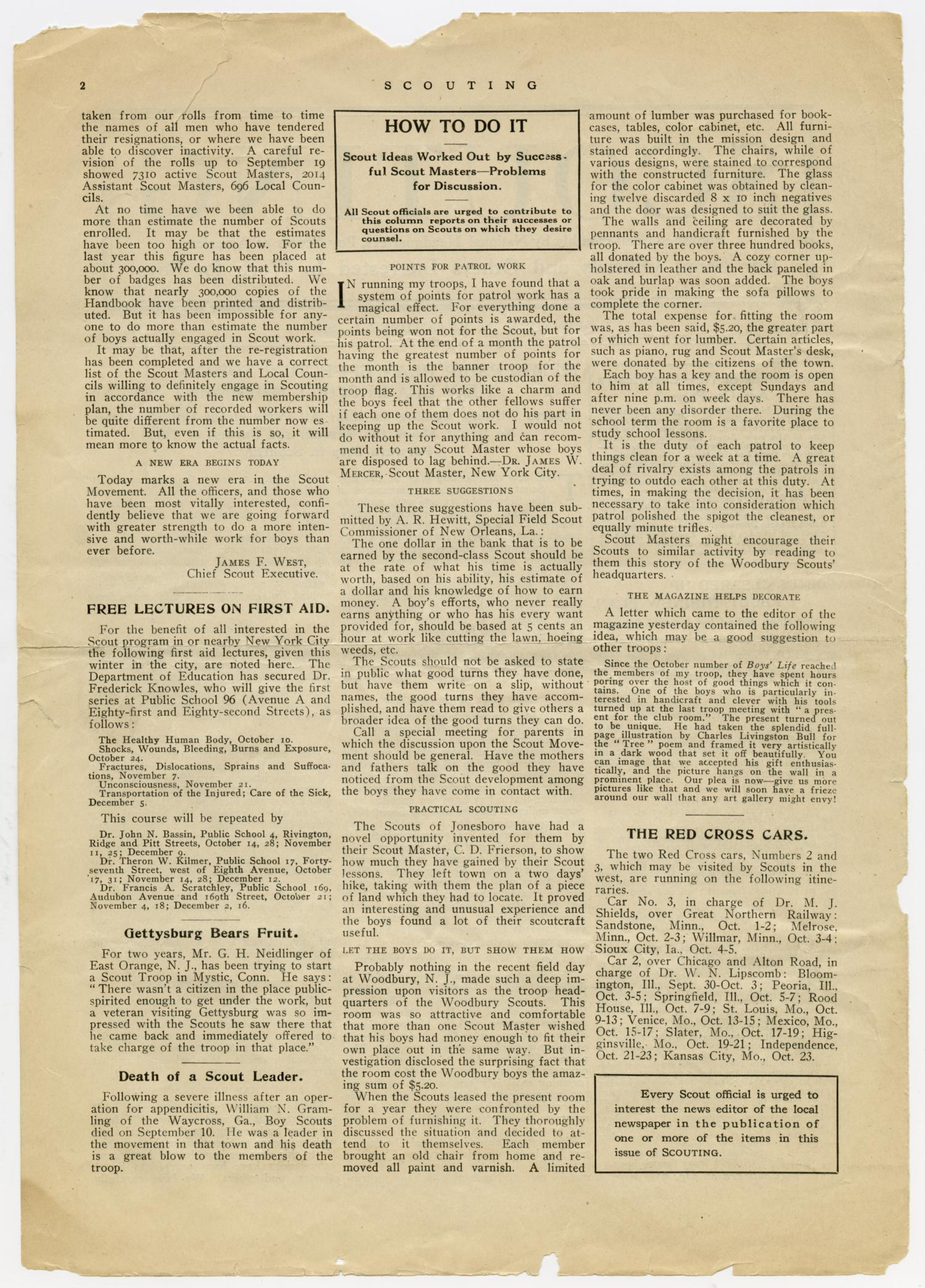 Scouting, Volume 1, Number 12, October 1, 1913                                                                                                      2