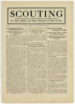 Primary view of object titled 'Scouting, Volume 1, Number 18, January 15, 1914'.
