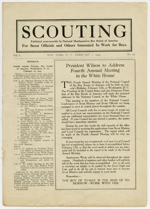 Primary view of object titled 'Scouting, Volume 1, Number 19, February 1, 1914'.