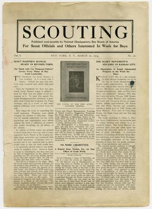 Primary view of object titled 'Scouting, Volume 1, Number 22, March 20, 1914'.