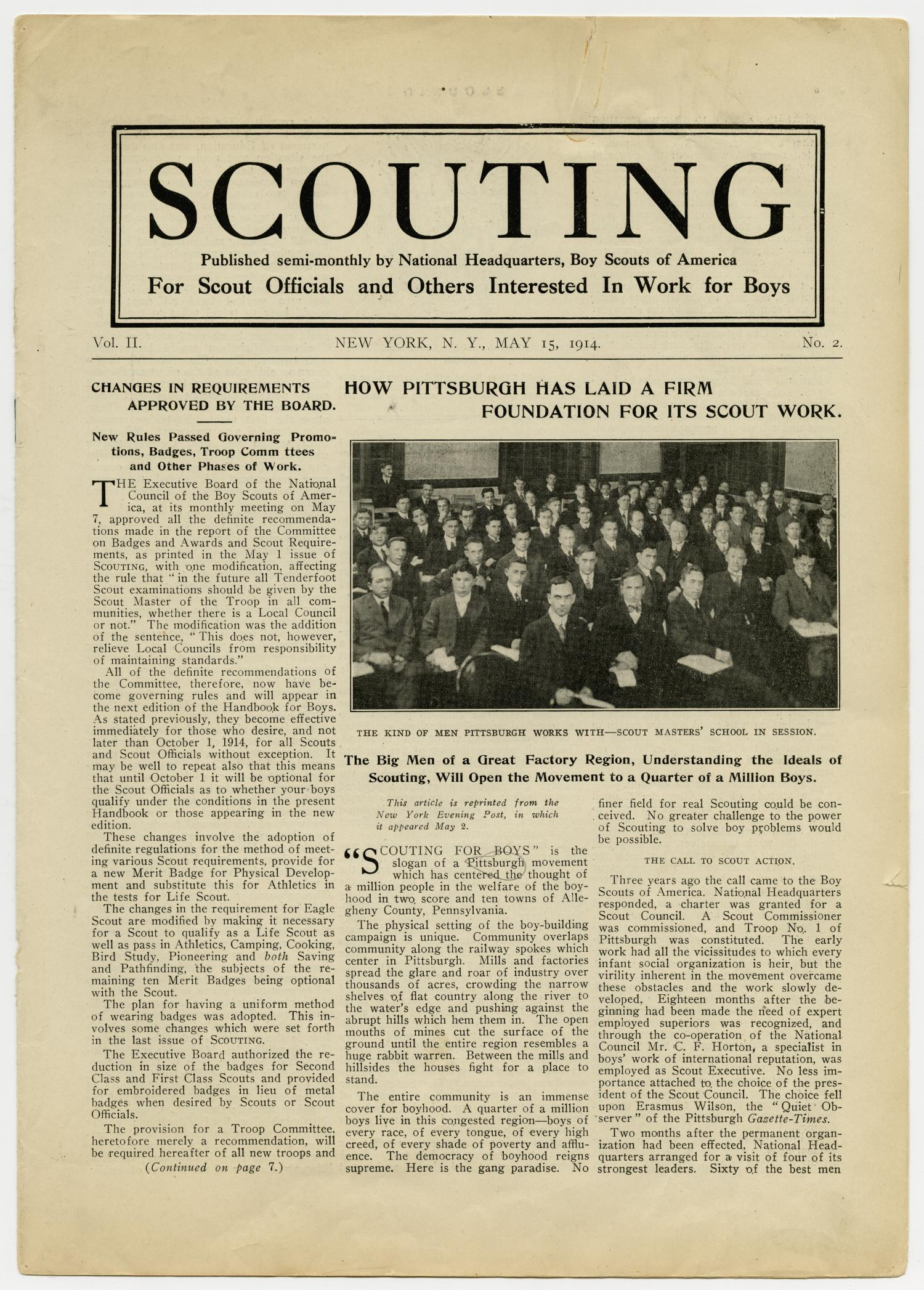 Scouting, Volume 2, Number 2, May 15, 1914                                                                                                      1