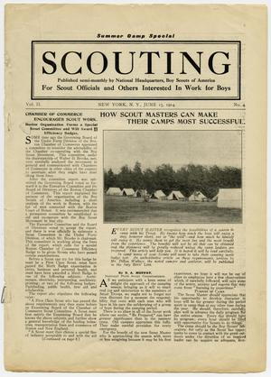 Primary view of object titled 'Scouting, Volume 2, Number 4, June 15, 1914'.