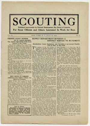 Primary view of object titled 'Scouting, Volume 2, Number 6, July 15, 1914'.
