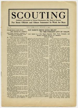 Primary view of object titled 'Scouting, Volume 2, Number 7, August 1, 1914'.