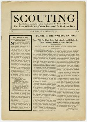 Primary view of object titled 'Scouting, Volume 2, Number 8, August 15, 1914'.