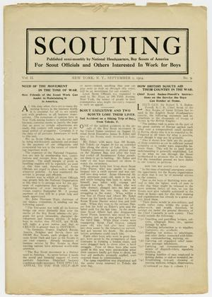 Primary view of object titled 'Scouting, Volume 2, Number 9, September 1, 1914'.