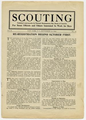 Primary view of object titled 'Scouting, Volume 2, Number 10, September 15, 1914'.