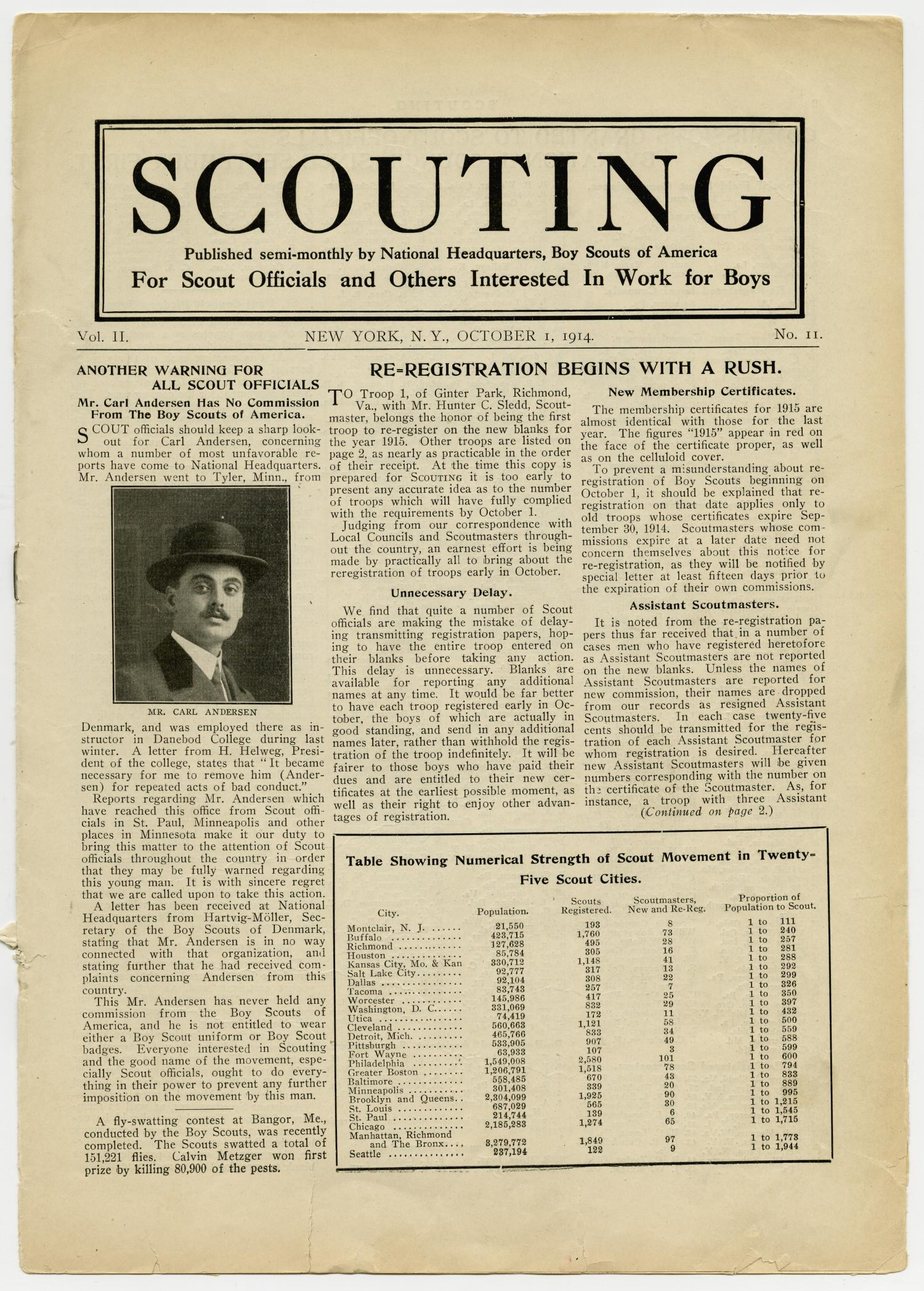 Scouting, Volume 2, Number 11, October 1, 1914                                                                                                      1