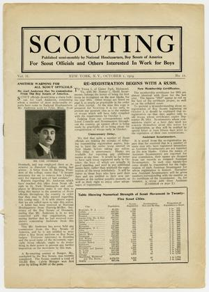 Primary view of object titled 'Scouting, Volume 2, Number 11, October 1, 1914'.