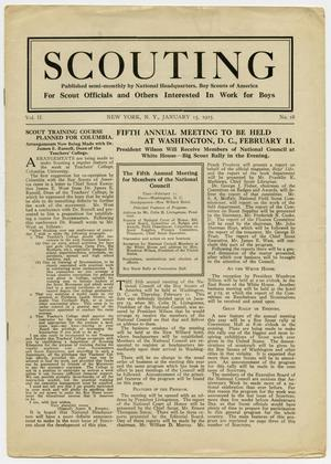 Primary view of object titled 'Scouting, Volume 2, Number 18, January 15, 1915'.
